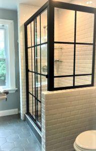 Matte Black Gridworks on Lucette Bypass Shower Door