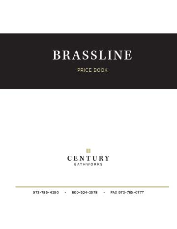 Brassline Series Price Book