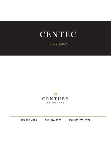 Centec Series Price Book
