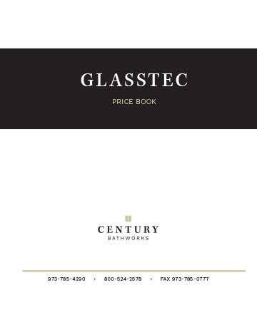 Glasstec Series Price Book