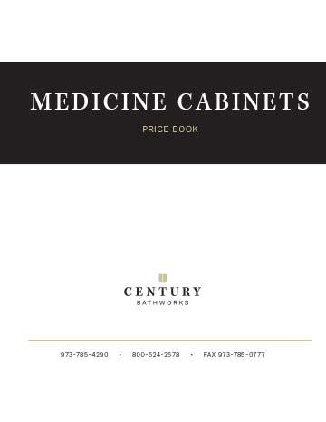 Medicine Cabinets Price Book